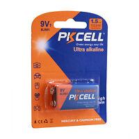 PKCELL 9V Battery 6LR61 1604A 6LF22 EN22 MN1604 Alkaline Batteries New