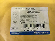 STEEL CITY FPT4-CVR-TBLK NEW IN PACK OPENED ALUM BLACK COVER SEE PICS #A24