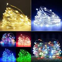 20/30/50/100 LED Starry Copper String Fairy Lights Battery Operated Xmas Wedding