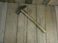 Vintage Strapped Carpenter USE SOAP HAMMER BRAND Wooden Handle Antique Old Tool