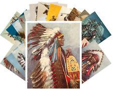 24 Postkarten Set *Indian Chef Native American Life Retro Illustration CC1024