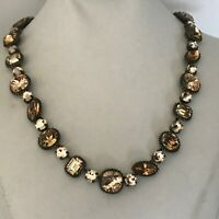 Sorrelli Fall Festival Brown Apricot Amber Tan Crystal Necklace New