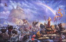 Tom DuBois THE CELEBRATION S/N unframed paper Noah's Ark Biblical art print MINT