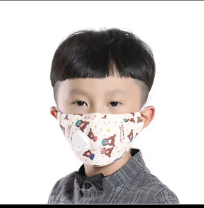 kids Face Mask Cotton Washable and Reusable with 2 filter