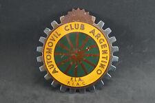 Vintage  car club badge automovil club argentino