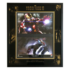 Signed Robert Downey Jr, Stan Lee, Don Cheadle Framed Iron Man Display