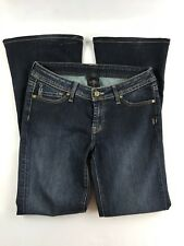 "Genetic Denim ""It's All In Your Genes"" Women's Boot Flare Dark Wash Jeans Sz 29"