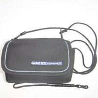 Nintendo Game Boy Advance CARRY CASE Shoulder & Wrist Strap Black Travel Bag