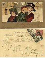 GG364-IMMAGINE DI ETHEL PARKINSON, DA TORINO A MILANO, 1904, M.M. VIENNE N° 191