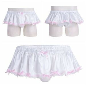 Sexy Men's Sissy Silky Satin Skirted Frilly Panties Girlie Knickers Underwear