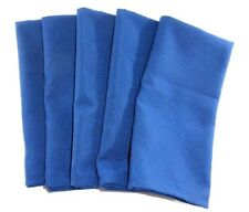 """Cloth Dinner Napkins Blue Fabric Set of 5 Oversize 20""""X20"""" Square Polyester"""