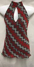 Chiffon Waist Length Halterneck Tops & Shirts for Women
