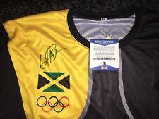 Usain Bolt Signed Rio Olympics Jersey Gold Medal 9x Gold 🇯🇲 Jamaica Beckett#13