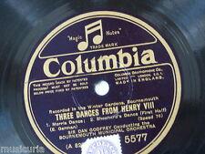 78rpm THREE DANCES FROM HENRY VIII dan godfrey - bournemouth municipal orch 5577