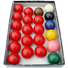 "New Snooker Balls Regulation Standard 2 1/16"" Full Set 22 Piece 5.25cm"