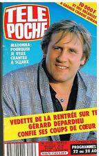 B- Télé Poche N°1123 Gerard Depardieu,Madonna,Richard Bohringer