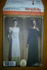 OOP Simplicity 4055 HH Regency Era Costume Jane Austen Empire Dress  Sz 6 - 12