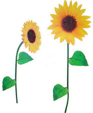"""SUNFLOWER WALL DECALS VINYL REMOVABLE WASHABLE 24"""" NEW in pkg SEE PICS>>>>"""
