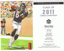 2011 Shannon Sharpe goal line art card Denver Broncos