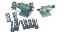 5C INDEXER SPIN JIG W/5C COLLET SET ,TAILSTOCK SET