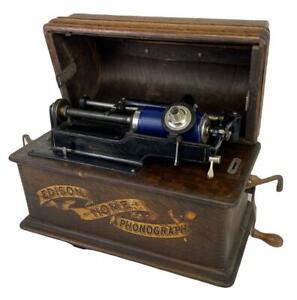 Antique Thomas Edison Cylinder Triumph? Home Phonograph +Model C Reproducer