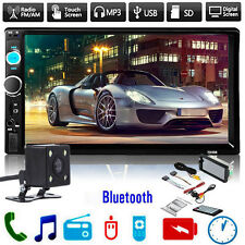 "7"" 2 Din Touch Screen Car MP5 Player Bluetooth Stereo FM Radio + Camera"