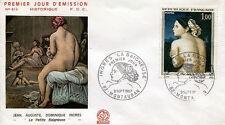 FRANCE FDC - 622 1530 2 TABLEAU LA BAIGNEUSE INGRES - 9 Septembre 1967