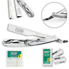 FREE BLADES + CLASSIC BARBER STRAIGHT RAZOR CUT THROAT SALON SHAVING RASOI