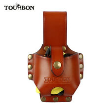 Tourbon Cowhide Leather Tape Measure Holder Contractor Carpenter Tool Holster