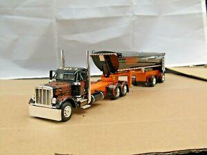 Dcp Eilen black/orange Peterbilt 379 daycab w/MAC dump trailer no box
