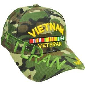 Vietnam Veteran Marines Military Hat Cap  USA Soldiers Support Camouflage