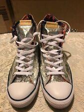 Converse Chuck Taylor All Star Hi Top Silver Foil 156500C Shoe Men 10 Women 12