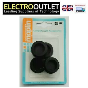 4 x Rubber Adhesive Feet for Subwoofer PC Case 32mm Black