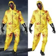 Erwachsene Biohazard Anzug Kostüm Herren Damen Halloween Grusel Zombie Overall