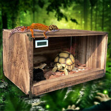 Reptile Cage Snake Lizard Anole House Breeding Box Two-way Door Wooden Pet Boxes