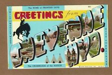 Greetings From CHEYENNE WYO. in large letters with views copyright 1940