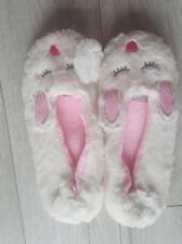 Womens Eaze Slippers white bunny size 7/8 UK