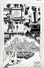 GALACTUS & ASGARD HALF-SPLASH MARVEL LPS #1 PAT OLLIFFE ORIGINAL COMIC ART PAGE Comic Art