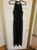 Black gown size 12 bedazzled collar  keyhole front and back Great condition