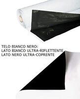 TELO RIFLETTENTE BIANCO NERO IN PVC 100 micron COLTIVAZIONE INDOOR H 2 MT