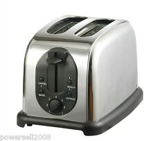 Silver Grey Stainless Steel 2 Slice Household Full-Automatic Breakfast Toaster