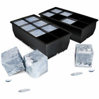 8 Cube Giant Jumbo Large Silicone Ice Cube Square Tray Mold Mould Home Tool GIFT