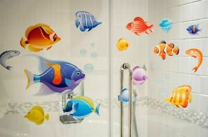 Tropical Fish Double-Sided Static Cling Window Stickers (Large Set)