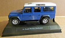 OXFORD CARARAMA LAND ROVER DEFENDER STATION WAGON BLUE 1:24 SCALE DIECAST