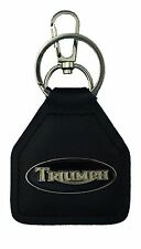 Triumph Black Oval, Bonneville, Tiger, America, Quality Leather Keyring