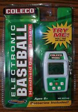 NEW Coleco Electronic Baseball Handheld 2005 Game System W/ Keychain Belt Clip!