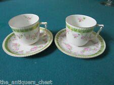 HOHENZOLLERN CHINA  ca 1950s pair of coffee cup and saucers, stamped [99]
