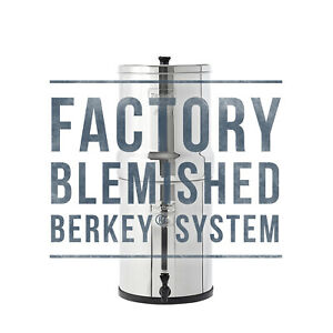 Royal Berkey Water Filter w/ 2 Black Berkey Purifiers - Factory Blemished - NEW
