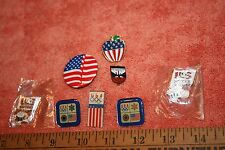 7 Vintage Olympics & Usa Soccer & Other Usa Pins
