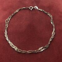 """Vintage Sterling Silver Bracelet 925 Chain 8"""""""